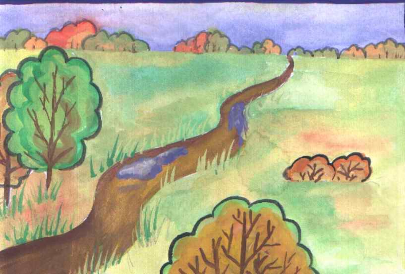 Рисунки про осень 4 класс